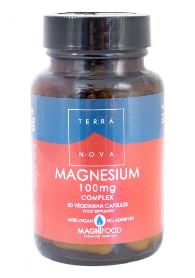 Комплекс с магнезий 100 mg, Terra Nova,  50 бр