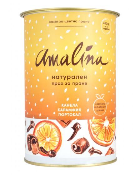 Универсален прах за пране Канела, карамфил и портокал, Amalina,  800 г