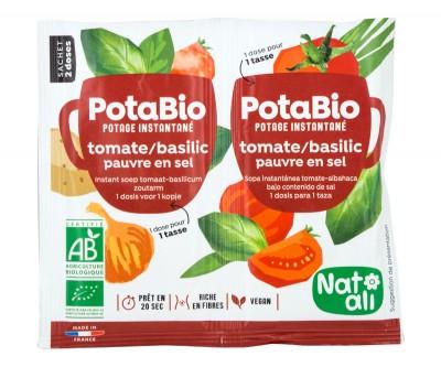 Instant Vegetable Soup Tomato & Basil - organic