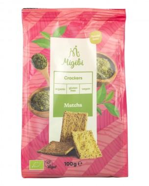 Crackers with matcha powder - organic