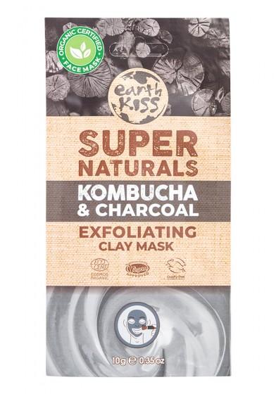 Exfoliating Face Mask Kombucha & Charcoal - organic , Earth Kiss,  10 g