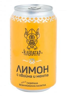 Леко газирана безалкохолна напитка Лимон с хвойна и мента