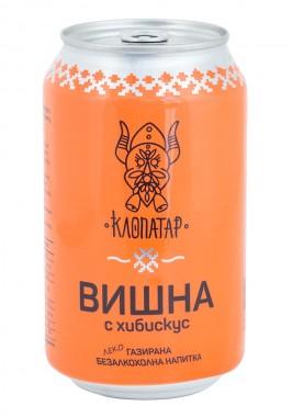 Леко газирана безалкохолна напитка Вишна с хибискус