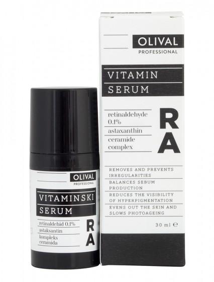 Нощен витаминен серум за лице RA, Olival,  30 мл