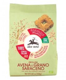 Бисквити от овес и елда - био, Alce Nero,  250 г