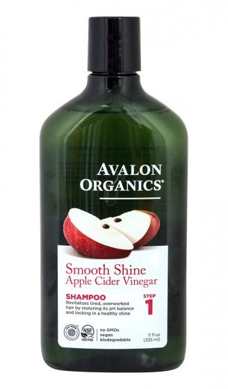 Шампоан за блясък с ябълков оцет, Avalon Organics,  325 мл