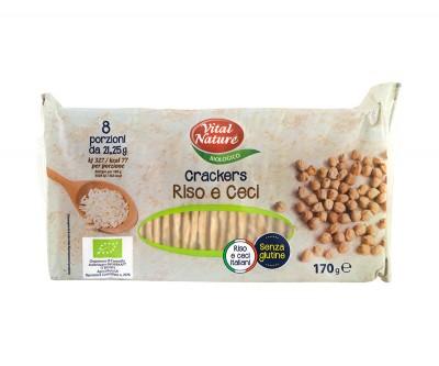 Безглутенови крекери от ориз и нахут - био
