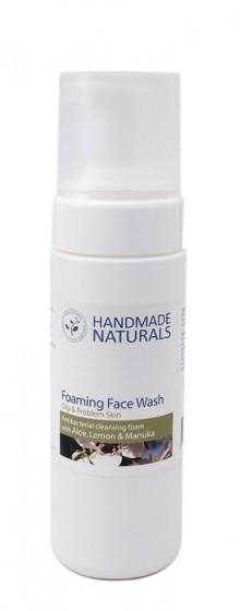 Антибактериална пяна за лице за мазна кожа, Handmade Naturals,  200 мл