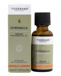 Етерично масло от цитронела - био - 9 / 30 мл, Tisserand® Aromatherapy,  9 мл,  30 мл