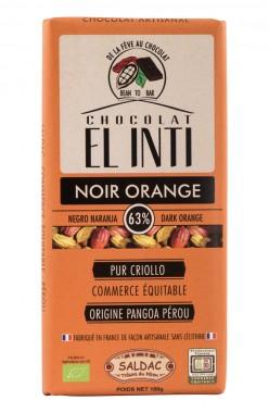 Черен шоколад с портокал 100 г