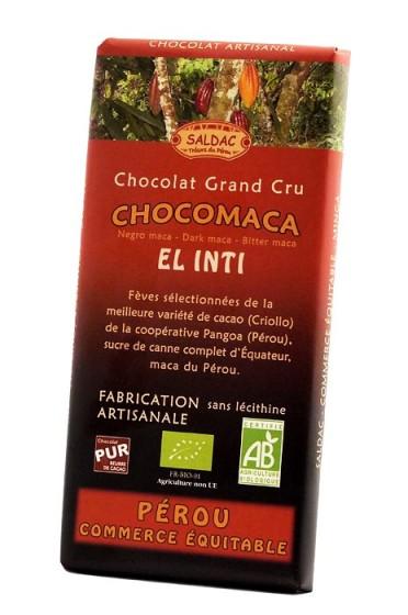 Черен шоколад с мака - 100 г, Saldac,  100 г
