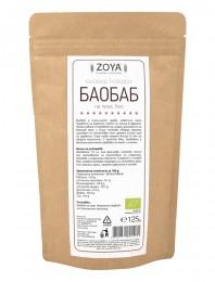 Organic Baobab Powder - 125 g, ZoyaBG ®,  125 g