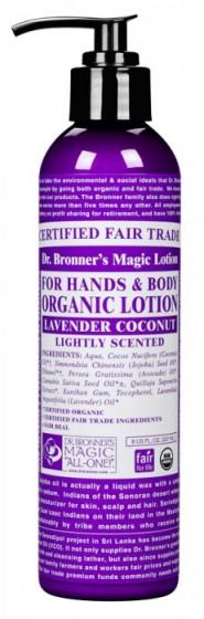 Био лосион за тяло лавандула и кокос 237 мл, Dr. Bronner's,  237 мл