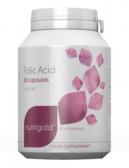 Фолиева киселина Quatrefolic® мета - 60 капсули, NutriGold,  60 бр
