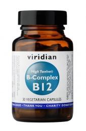 В-комплекс с B12 - 30/90 капсули, Viridian,  30 бр,  90 бр