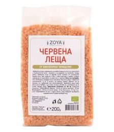 Био червена леща - 200 г, ZoyaBG ®,  200 г