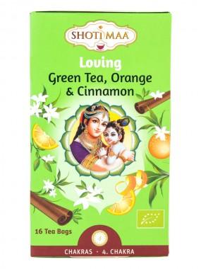 """Чай """"Любов"""" със зелен чай, портокал и канела"""