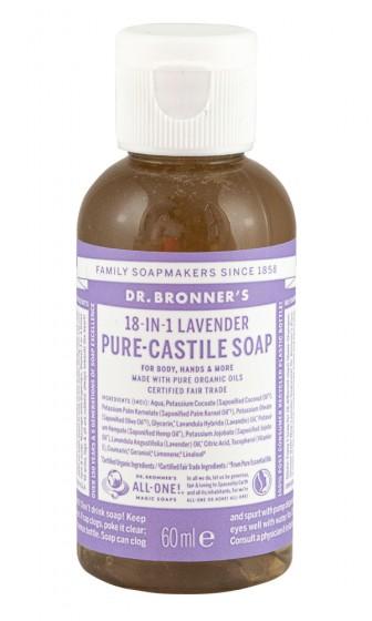 Кастилски сапун с лавандула 60/240/475 мл, Dr. Bronner's,  60 мл,  240 мл,  475 мл