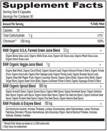 Суров микс Perfect Food® RAW – 240 капсули, Garden of Life®,  240 бр