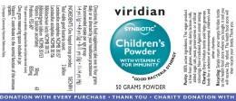 Children's synbiotic powder 50 g, Viridian,  50 g