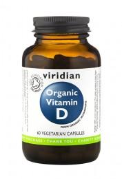Органичен витамин D 400 IU – 60 капсули, Viridian,  60 бр