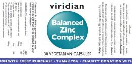 Цинк комплекс - 30 / 90 капсули, Viridian,  30 бр,  90 бр