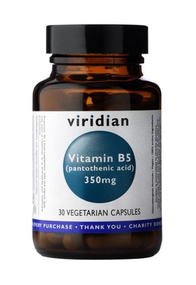 Витамин B5 - 350 мг, Viridian,  30 бр