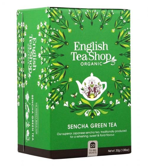 Oрганичен зелен чай сенча, English tea shop,  20 бр