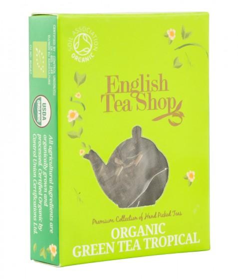 "Органичен зелен чай ""Tropical"" - 2 г, English tea shop,  2 г"