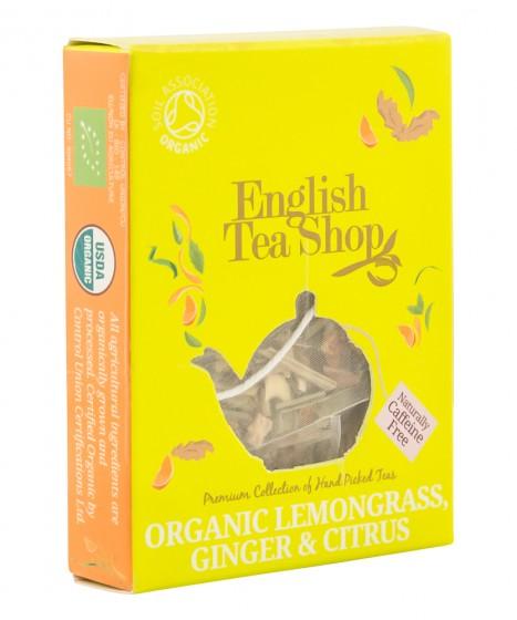 Oрганичен чай с лимонова трева, джинджифил и цитруси - 2 г, English tea shop,  2 г
