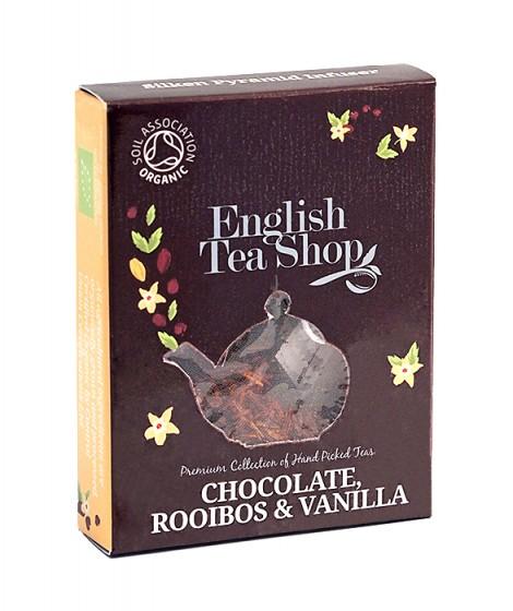 Органичен чай ройбос с ванилия и шоколад - 2 г, English tea shop,  2 г