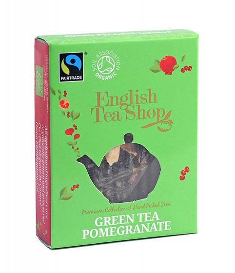 Органичен зелен чай с нар - 2 г, English tea shop,  2 г