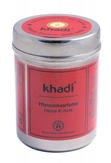 Билкова боя за коса с къна и амла, Khadi,  150 г