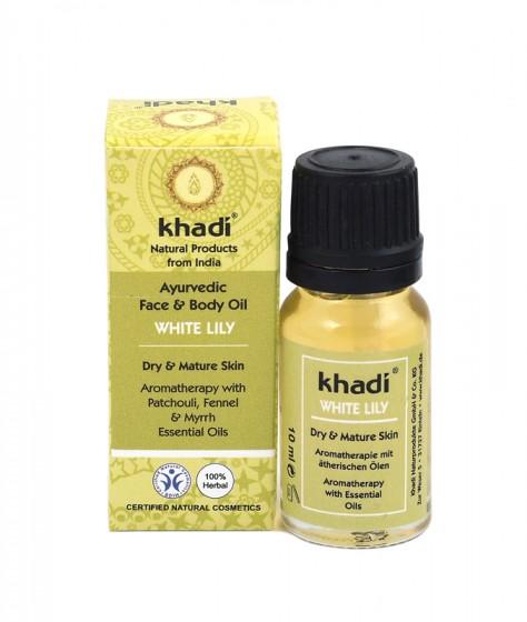 Масло за лице и тяло с бяла лилия 10 мл, Khadi,  10 мл