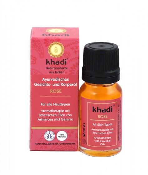 Масло за лице и тяло с роза 10/100 мл, Khadi,  10 мл,  100 мл