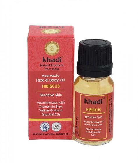 Масло за лице и тяло с хибискус 10 мл, Khadi,  10 мл