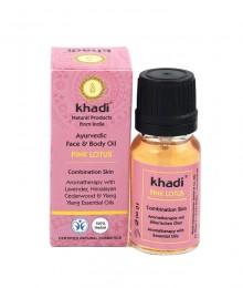 Масло за лице и тяло – розов лотос 10 мл, Khadi,  10 мл