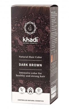 Билкова боя за коса – тъмно кафява