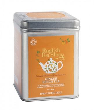 Органичен чай – джинджифил и праскова - насипен - 100 г