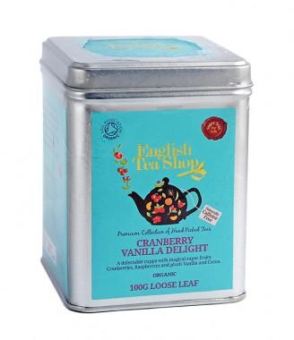 Органичен чай с червена боровинка и ванилия – насипен – 100 г