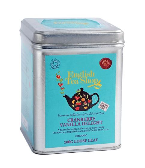 Органичен чай с червена боровинка и ванилия – насипен – 100 г,  100 г