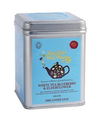 Органичен бял чай с боровинка и бъз – насипен – 100 г