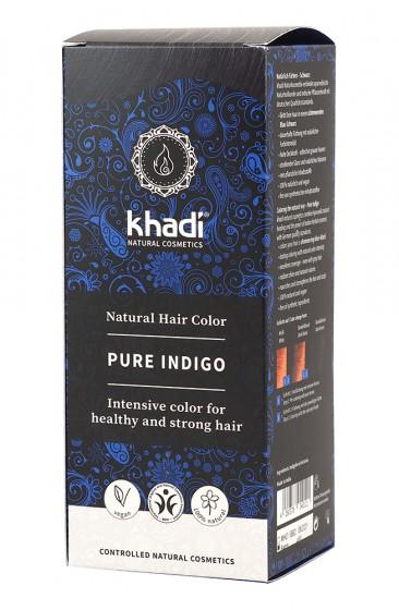 Чистo натуралнo индиго - черно - 100 г, Khadi,  1 бр