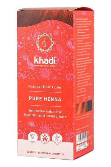 Чиста натурална къна - червена - 100 г, Khadi,  1 бр