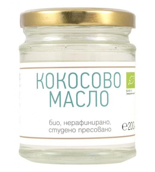 Кокосово масло - студено пресовано - био - 200 мл, ZoyaBG ®,  200 мл
