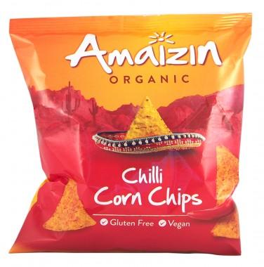 Органичен царевичен чипс - чили
