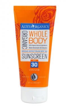 Органичен слънцезащитен крем за тяло SPF30 – 90 мл