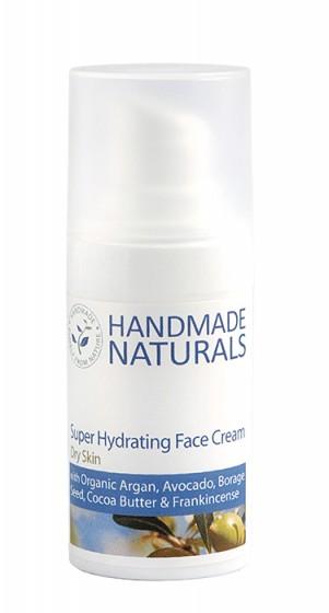Суперхидратиращ крем за лице за суха и зряла кожа - 15 мл  , Handmade Naturals,  15 мл