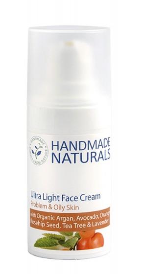 Ултра лек крем за мазна и проблемна кожа - 15 мл, Handmade Naturals,  15 мл
