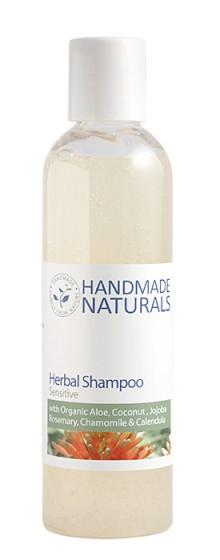 "Неароматизиран билков шампоан ""Sensitive"" за всеки тип коса - 125 / 250 мл, Handmade Naturals,  125 мл,  250 мл"